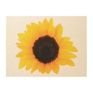 """Sunflower 24""""x18"""" Wood Wall Art"""
