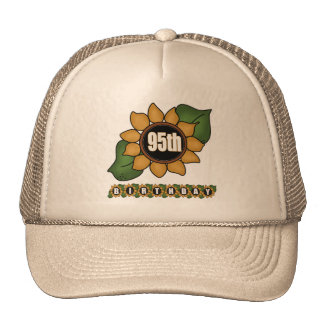 Sunflower 95th Birthday Gifts Cap