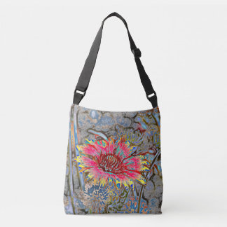 Sunflower Batik Style Crossbody Bag