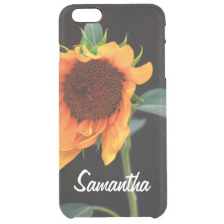 Sunflower bloom clear iPhone 6 plus case