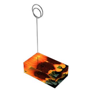 Sunflower bloom table card holder
