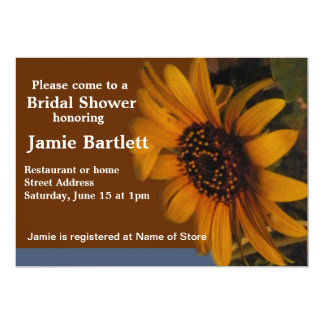 Sunflower Bridal Shower Card