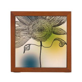 Sunflower Digital Art Desk Organizer