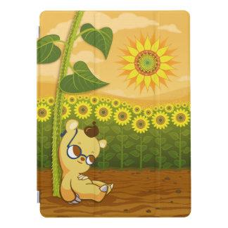 Sunflower Field and Cute Cartoon Bear iPad Pro Cover