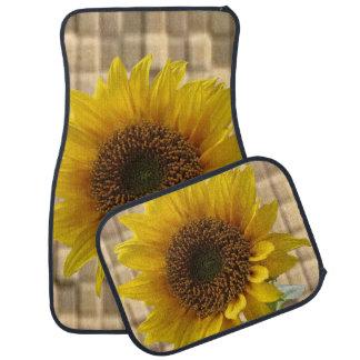 Sunflower floor car mats