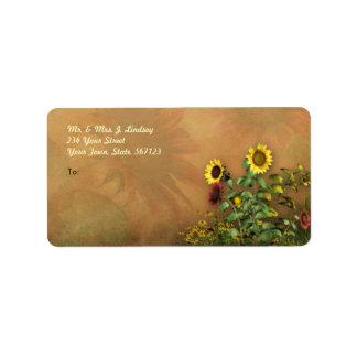Sunflower Garden 1 Address Label