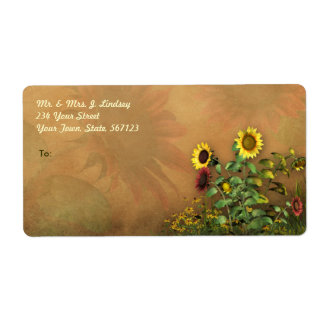 Sunflower Garden 1 Shipping Label