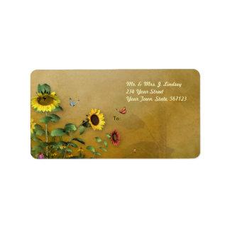 Sunflower Garden 2 Address Label