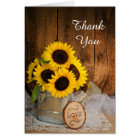 Sunflower Garden Watering Can Bridesmaid Thank You Card