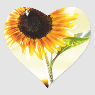 sunflower heart sticker