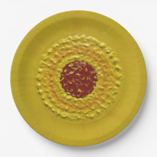 """Sunflower in Summer 9"""" 9 Inch Paper Plate"""