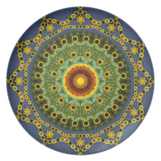 Sunflower Mandala Plate