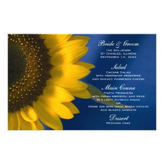 Sunflower on Blue Wedding Menu