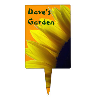 Sunflower Personalized Garden Stake Cake Pick