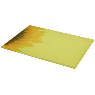 Sunflower Photo Floral Macro Sunny Yellow Cutting Board