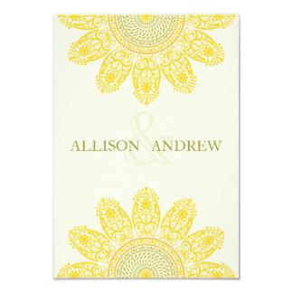 Sunflower R.S.V.P. 9 Cm X 13 Cm Invitation Card