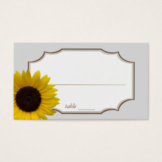Sunflower Seating Place Cards