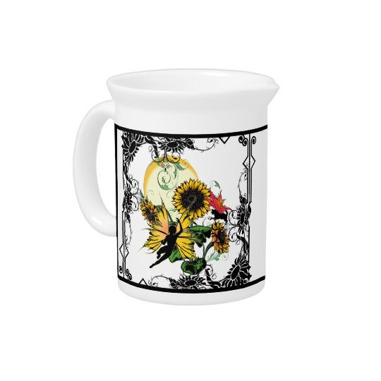 Sunflower Shadow Fairy and Cosmic Cat Pitcher
