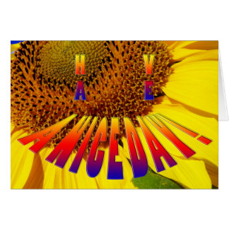 sunflower smiley have a nice day card