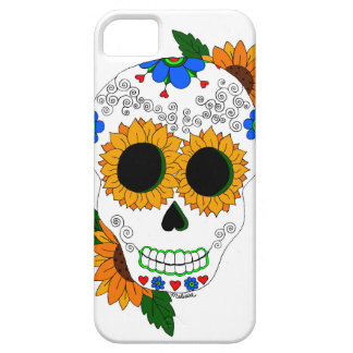 Sunflower Sugar Skull cell phone case