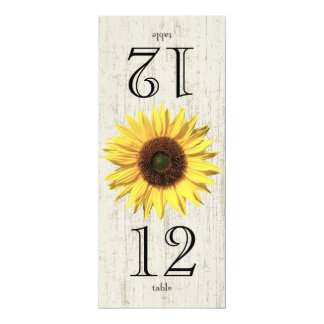 Sunflower Table Number