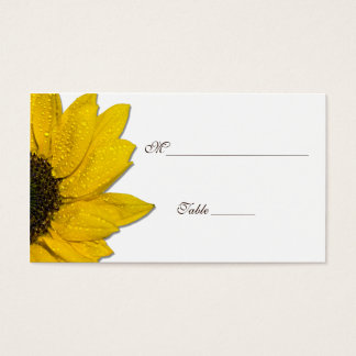 Sunflower Wedding or Special Occasion Place Cards