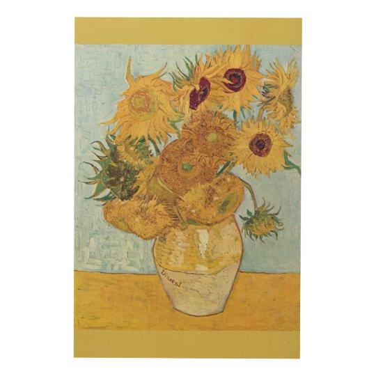Sunflowers 1889 Vincent Van Gogh Wood Print