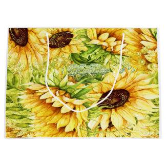 Sunflowers - Back Customization Large Gift Bag