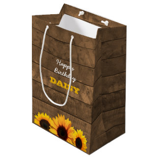 Sunflowers & Barnwood Personalised Gift Bag