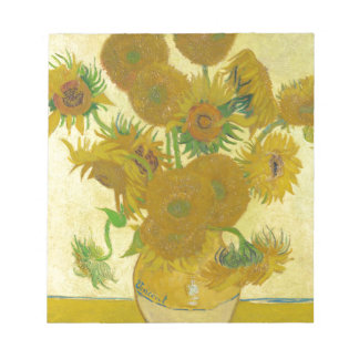 Sunflowers by Vincent van Gogh Notepad