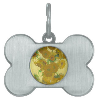 Sunflowers by Vincent van Gogh Pet Name Tag