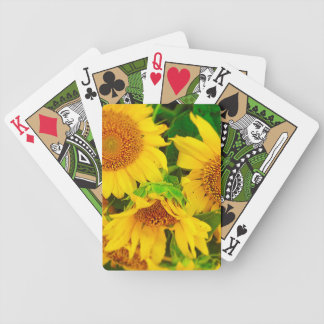 Sunflowers City Market KC Farmer's Market Bicycle Poker Cards