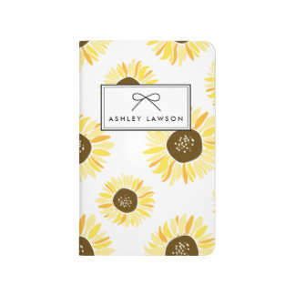 Sunflowers Floral Pattern Personalised Journal