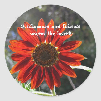 Sunflowers & Friends! Classic Round Sticker