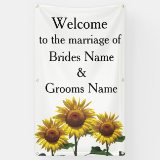 Sunflowers Inexpensive Wedding Packages Sets Kits Banner