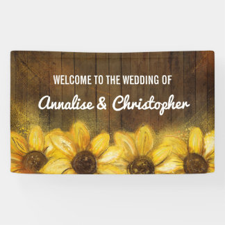 Sunflowers on Wood | Welcome to the Wedding Banner