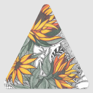 sunflowers triangle sticker