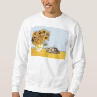 Sunflowers - Two Tabby Kittens Sweatshirt