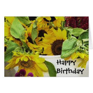 Sunflowers Waiting Birthday Blank Card