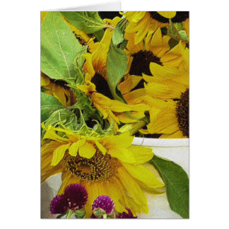 Sunflowers Waiting Greeting Card
