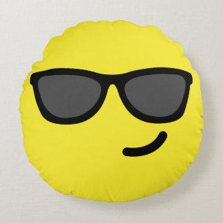 Sunglasses Emoji / Smiley Round Cushion