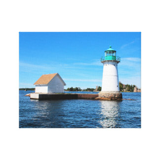 Sunken Rock Lighthouse, New York Canvas Print