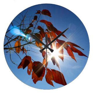 Sunlight Shining Through Leaves Clock