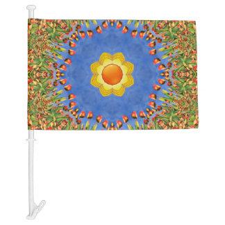 Sunny Day Colorful Car Flag