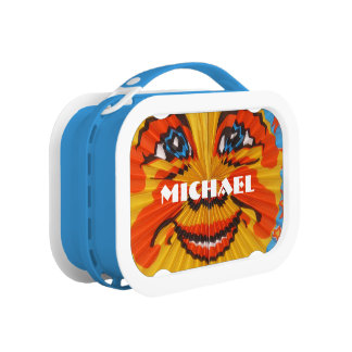 sunny funny face lunch box customizable
