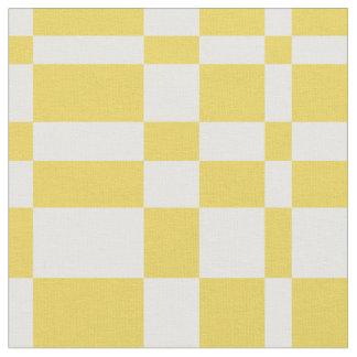 Sunny Geometric Retro Grid Fabric