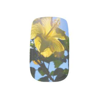 Sunny Hibiscus Minx Nail Art