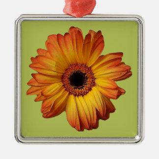 Sunny Orange gerbera flower bloom Christmas Ornament