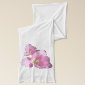 Sunny Pink Tulips Scarf