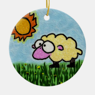 Sunny Sheep Christmas Ornament